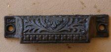 Vintage Cast Iron Victorian Drawer Handle Bin Pull 3 1/4 OC