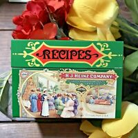 Vintage Recipe Box Farmhouse1987 Advertising H.J. Heinz Co Tin Lithograph