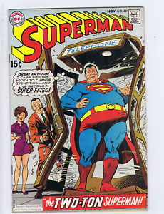 Superman #221 DC 1969  the Two-Ton Superman !