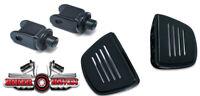 Kuryakyn Premium Black Front Mini Floorboard & Adapter KIT Honda VTX1300 Models