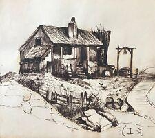 Ferme  Moyen âge médiévale encre vers 1862 proche des  Yvelines Eure Essonne ?