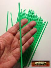 M00842 MOREZMORE 50 Plastic Drinking Straws GREEN THIN 3.6 mm Dia BJD T20
