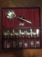 Slack And Barlow Vintage Dessert Cutlery Silver Plated