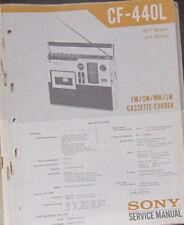 Sony CF-440L cassette radio service repair workshop manual (original copy)