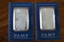 PAMP SUISSE Lady Fortuna 1 Troy oz. 999 Silver Bar (X2)