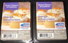 2  BETTER HOMES & GARDENS Wax Melts ORANGE BUTTERCREAM CUPCAKE 2.5 Oz Each