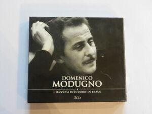 DOMENICO MODUGNO I Successi Dell'Uomo in Frack 3 Dischi  CD Musica  Italiana