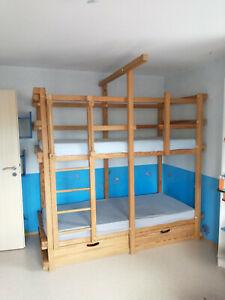 Hochwertiges Etagenbett/Stockbett/Hochbett von Woodland in Kiefer