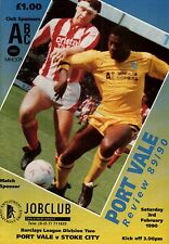 1989/90 Port Vale v Stoke City, Division 2, PERFECT CONDITION