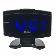Sharp Digital Electric Alarm Clock Timer Snooze Blue Led Large Display Bedroom