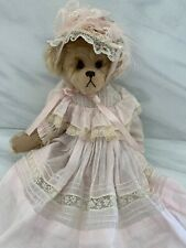 "BEAR ELEGANCE Joan Woessner ""Abby"" Mohair Artist Bear 13"" Vintage Lace Dress"