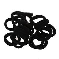 20 pezzi elastici fascia dei capelli per donne nero V9M2