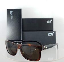 Brand New Authentic Mont Blanc Sunglasses MB 653S 52E Tortoise Black 55mm Frame