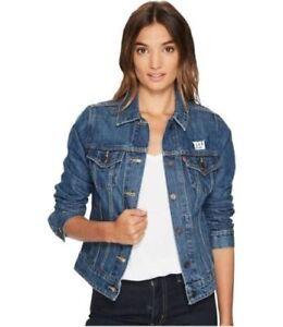 Levi Strauss Womens New York Giants Denim Trucker Jacket!! size XXL