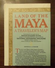 National Geographic Map Land Of The Maya A Traveler's Map October 1989