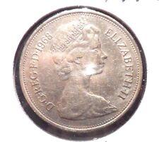 CIRCULATED 1968 10 NEW PENCE UK COIN! (41615)