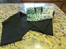 Victoria's Secret LOVE PINK Leopard Waistband Black Yoga Pants Size M NWT