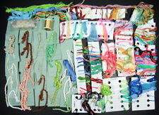 47x Needlepoint/Embroidery THREAD Cotton Floss & Pearl paper card w threads-JK62