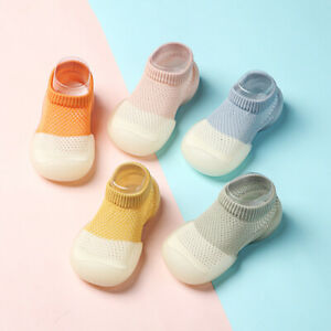 Kids Baby Anti-Slip Shoes Colorful Rubber Soft Sole Home Soft Floor Socks Warm