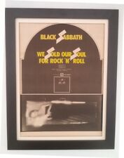 BLACK SABBATH*SOS*yellow*1976*ORIGINAL*POSTER*AD*FRAMED*FAST WORLD SHIP