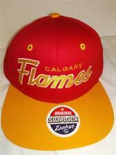 New Calgary Flames Mens Adult Size OSFA Snapback Flatbrim Zephyr Retro Cap Hat
