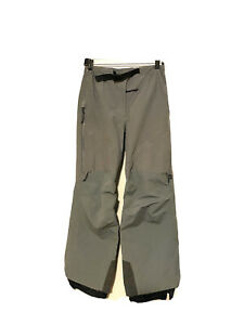 Arcteryx Women's GORE-TEX Ski Pants Gray Sz Small (4-6) Ventilated Side Zips