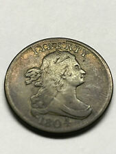 1804 Half Cent Spiked Chin Fine+ Cud Croslet 4 #2417