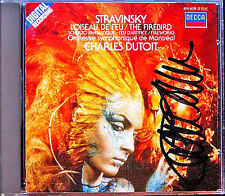 Charles DUTOIT Signed STRAVINSKY L'Oiseau de feu Scherzo fantastique Firebird CD