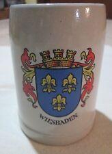 Vintage Wiesbaden Oktoberfest Mug Beer Stein West Germany Blue Crown