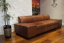 Super Lange Sofa Echtleder Sofa Couch 100%  Echtes Leder Rindsleder