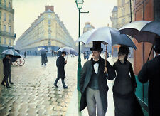 QUALITY CANVAS ART PRINT * PARIS STREET On A RAINY DAY * Gustave Caillebotte