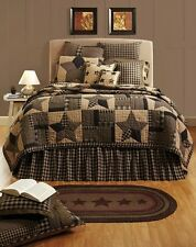 Bingham Star 5pc King Quilted Bedding Set Quilt Package by Victorian Heart Co.