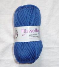 Gründl Filzwolle Uni Farbe 12- Royalblau