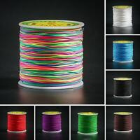 AU_ 1MM 100M Nylon Chinese Knot Cord  Thread String Rattail Macrame Jewelry maki