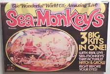 "Sea Monkeys Magnet 2""x3"" Fridge or Locker Vintage Box Art Retro"