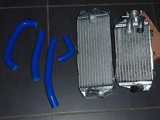 Radiateurs Usine Honda CRF 450 R 17 2017 CRF450R + kit durites silicones bleu