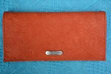 BILLABONG Embossed WALLET New. Tangerine- Zip Purse -MULTI-POCKET rrp$45.99