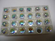 6 swarovski crystal 3/4 flatback disco balls,16mm crystal AB CAL VZ #4869