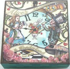 2015 Tuvalu Alice in Wonderland Clock $2 Two Dollar Antique Silver 2oz Coin