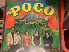 POCO hand signed record album autographed Rusty Young, Jim Messina  Richie Furay