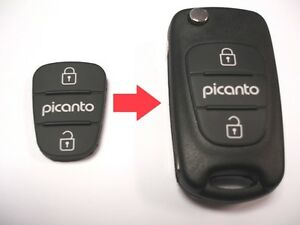 RFC 2 button rubber pad for Kia Picanto remote flip key