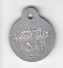 1974 DODGE CITY (KANSAS) DOG LICENSE TAG #1819