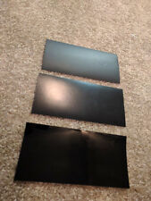 "3 pack 3M Gloss,Satin & Matte Black Vinyl Car Wrap Sample piece 4"" x 8"" inches"