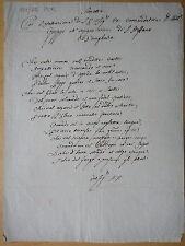 1810 circa-SONETTO-D.ANTONIO GREPPI-S.STEFANO D'UNGHERIA-MANOSCRITTO