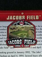 WILLABEE & WARD JACOBS FIELD STADIUM CLEVELAND INDIANS MLB BASEBALL PIN W/CARD
