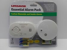 KIDDE LIFESAVER CO DETECTOR CARBON MONOXIDE ALARM AND SMOKE DETECTOR ALARM