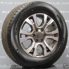 "GENUINE FORD RANGER WILDTRAK 2016-2019 18"" INCH ALLOY WHEELS+CONTINENTAL TYRES"