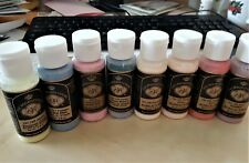 8 Acrylic Paints Set 36 DOC HOLLIDAY COLORS 2oz. self sealing
