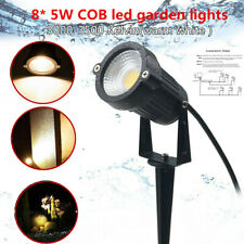 8x12V Outdoor Led Landscape Lights 5W Garden Pathway Tree Insert the ground Lawn