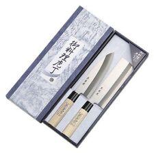 New Shimomura Japanese Universal & Vegetable Kitchen Knife Set Extra Hard Steel
